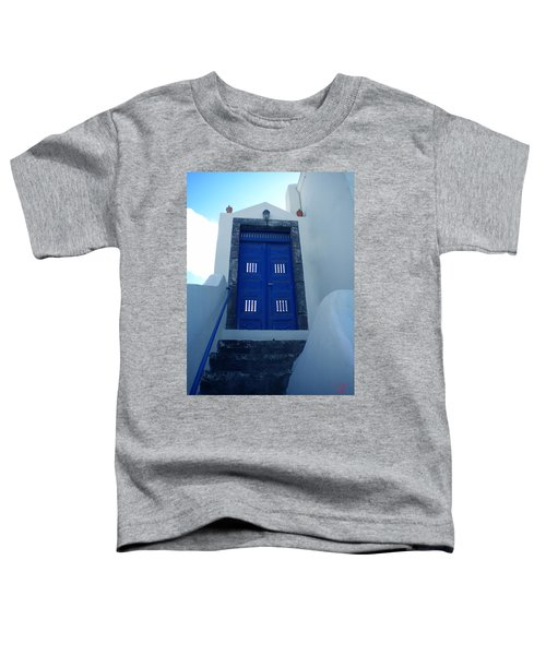 Toddler T-Shirt featuring the photograph Santorini Door  To Heaven  by Colette V Hera  Guggenheim
