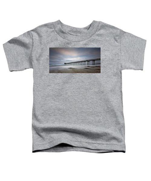 Scripps Pier Wide -lrg Print Toddler T-Shirt