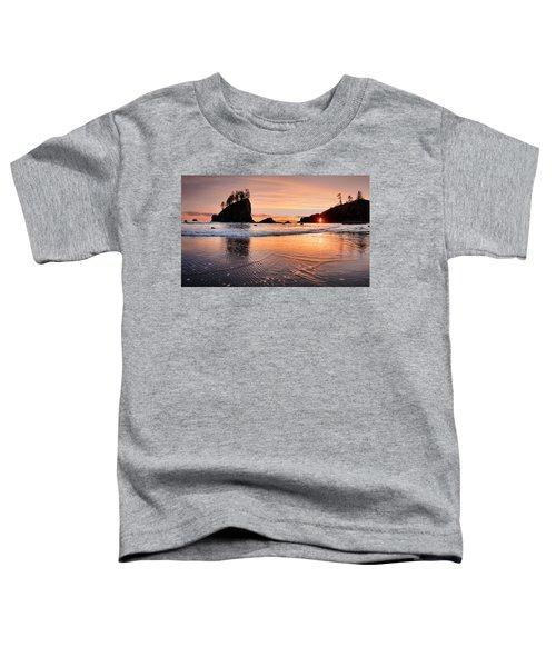 Second Beach Sunset Toddler T-Shirt by Leland D Howard
