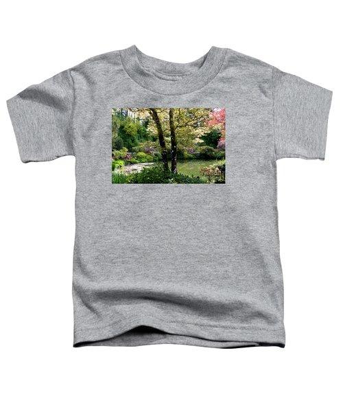 Serene Garden Retreat Toddler T-Shirt