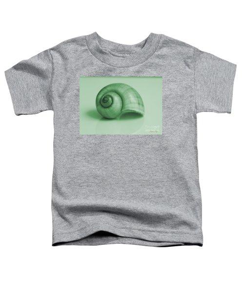 Shell. Light Green Toddler T-Shirt