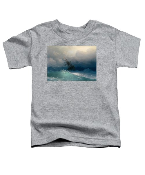 Ship On Stormy Seas Toddler T-Shirt