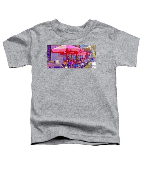 Sidewalk Cafe Digital Painting Toddler T-Shirt