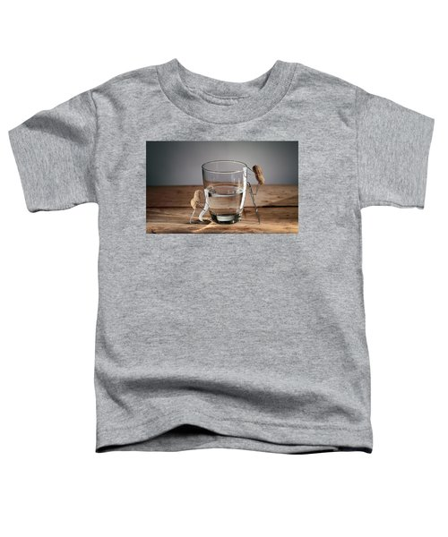 Simple Things - Half Empty Or Half Full Toddler T-Shirt