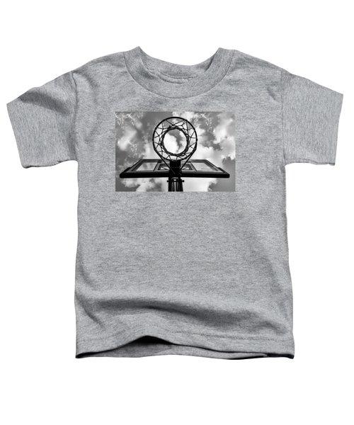 Sky Hoop Basketball Time Toddler T-Shirt