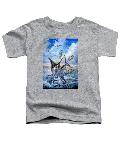 Small Tuna And Blue Marlin Jumping Toddler T-Shirt