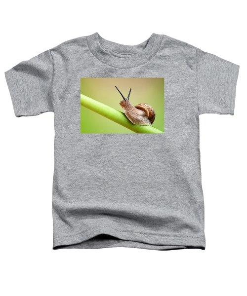 Snail On Green Stem Toddler T-Shirt