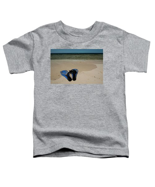 Snorkel Set On The Beach, Caribbean Toddler T-Shirt