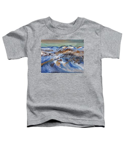 Snow Covered Sand Dunes Of Cape Cod Toddler T-Shirt