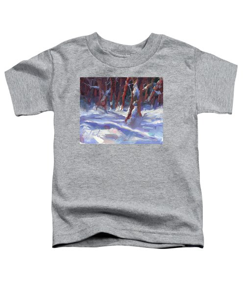Snow Laden - Winter Snow Covered Trees Toddler T-Shirt