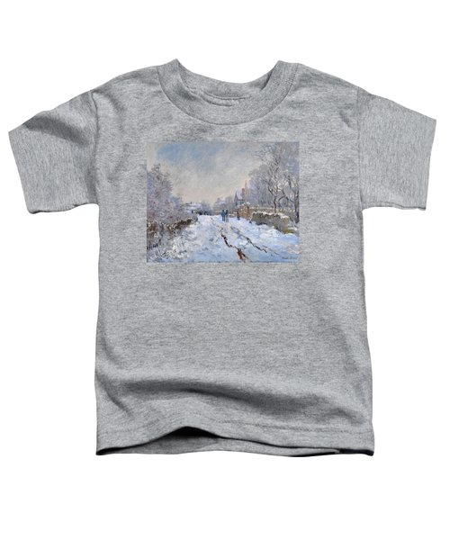 Snow Scene At Argenteuil Toddler T-Shirt