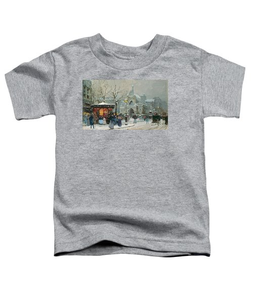 Snow Scene In Paris Toddler T-Shirt