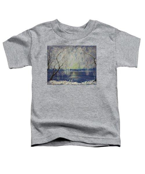 Snowy Day At The Lake Toddler T-Shirt