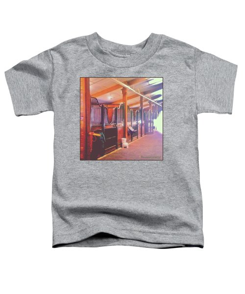 Stall Doors In The Red Barn, Stanford Toddler T-Shirt