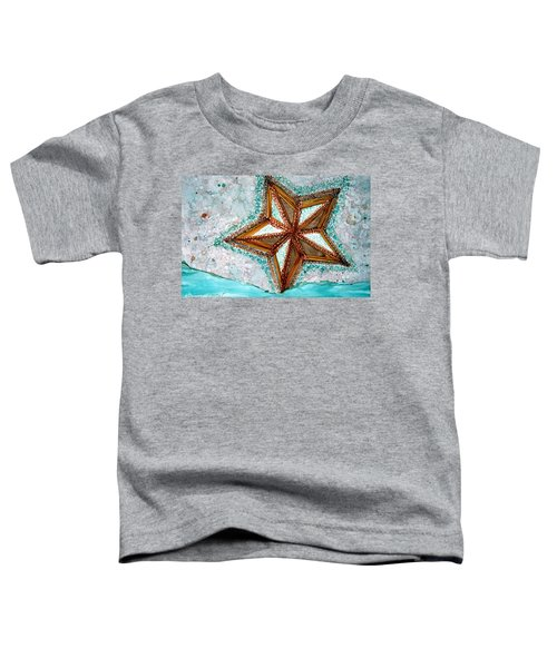 Starfish On The Beach Alcohol Inks Toddler T-Shirt