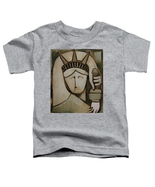 Tommervik Abstract Statue Of Liberty Art Print Toddler T-Shirt