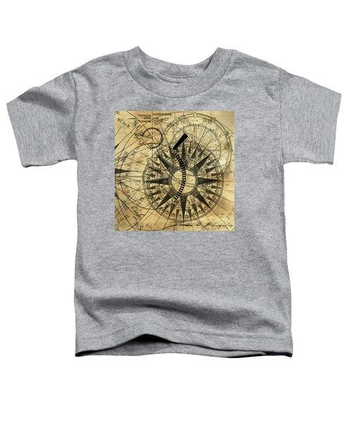 Steampunk Gold Compass Toddler T-Shirt