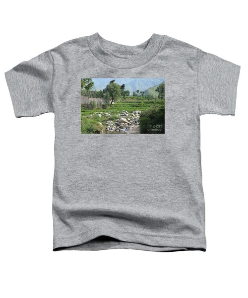Stream Trees House And Mountains Swat Valley Pakistan Toddler T-Shirt