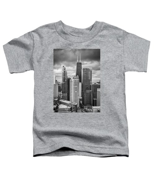 Streeterville From Above Black And White Toddler T-Shirt