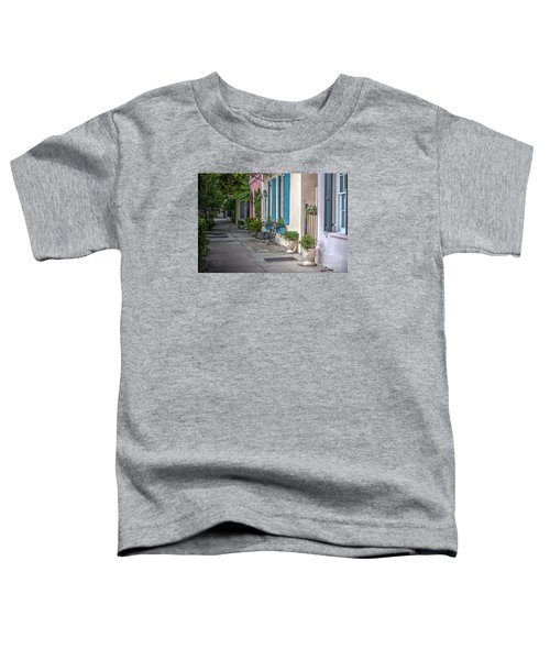 Strolling Down Rainbow Row Toddler T-Shirt