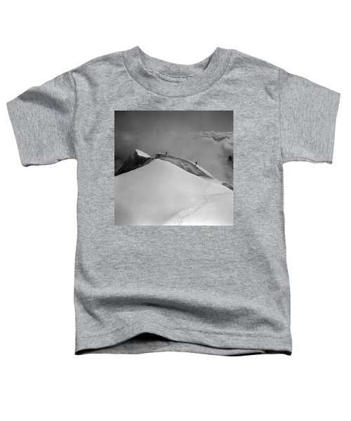 T-702412-bw-summit Of Mt. Robson Toddler T-Shirt