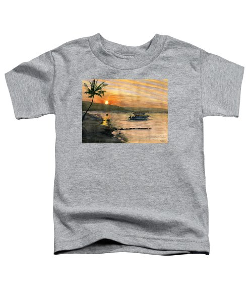 Sunset At Tropical Island Toddler T-Shirt