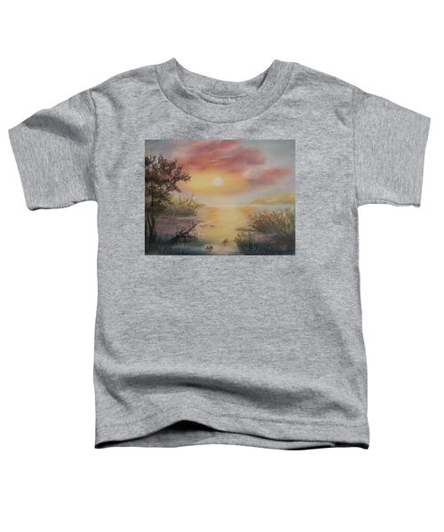 Sunset By The Lake Toddler T-Shirt