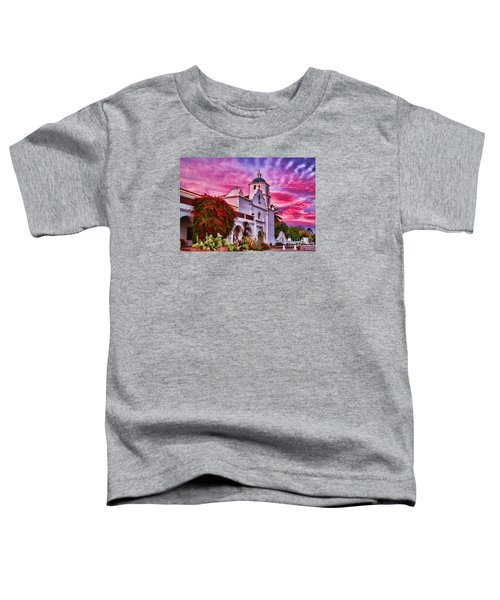 Sunset Mission San Luis Rey De Francia By Diana Sainz Toddler T-Shirt