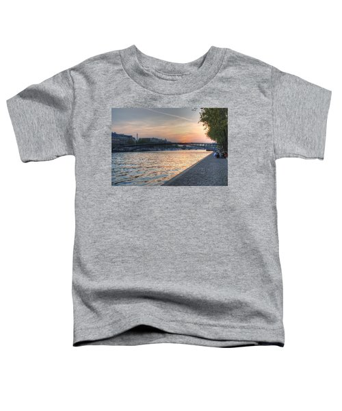 Sunset On The Seine Toddler T-Shirt