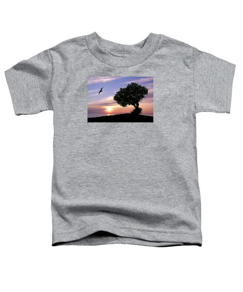 Sunset Tree Of Tranquility Toddler T-Shirt