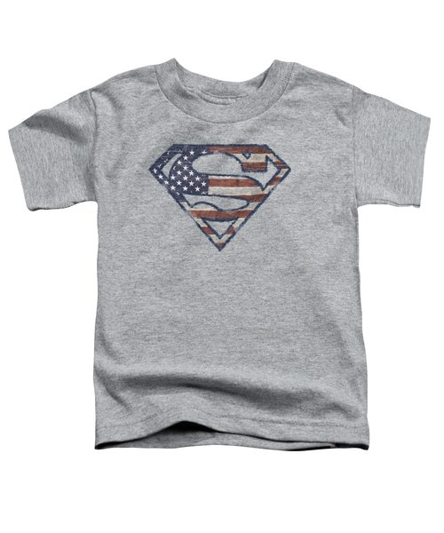Superman - Wartorn Flag Toddler T-Shirt