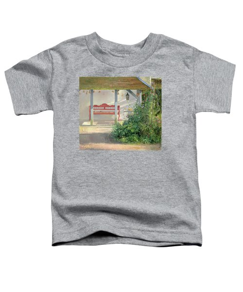 Sweet Peas And Autumn Harvest Oil On Canvas Toddler T-Shirt