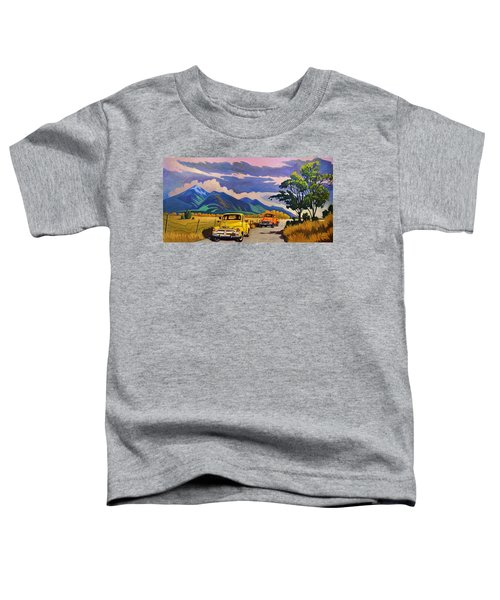 Taos Joy Ride With Yellow And Orange Trucks Toddler T-Shirt