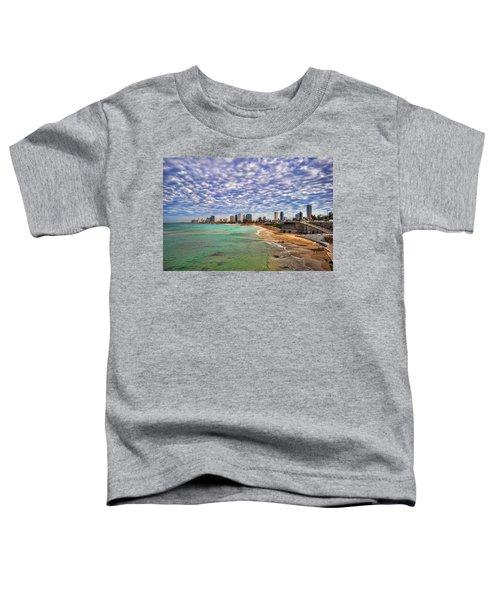 Tel Aviv Turquoise Sea At Springtime Toddler T-Shirt
