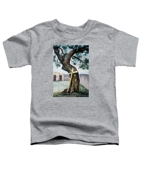 Da216 The Cross And The Tree By Daniel Adams Toddler T-Shirt