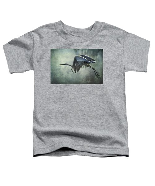 The Great Blue Heron  Toddler T-Shirt
