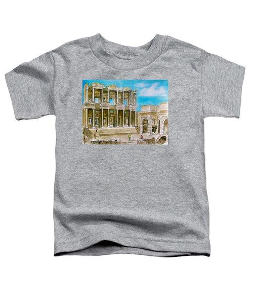 The Library At Ephesus Turkey Toddler T-Shirt