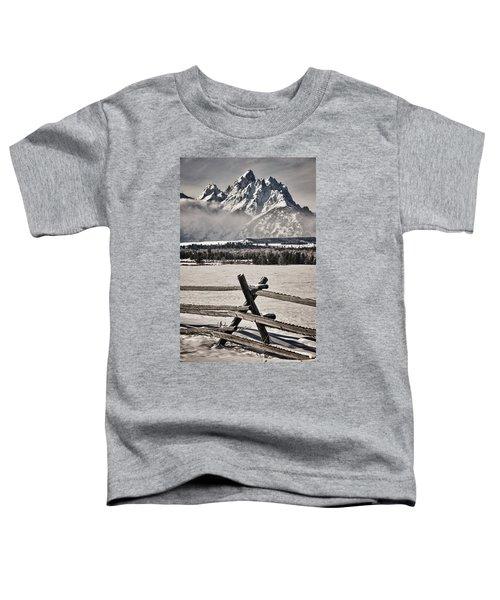 The Teton Mountain Range Toddler T-Shirt