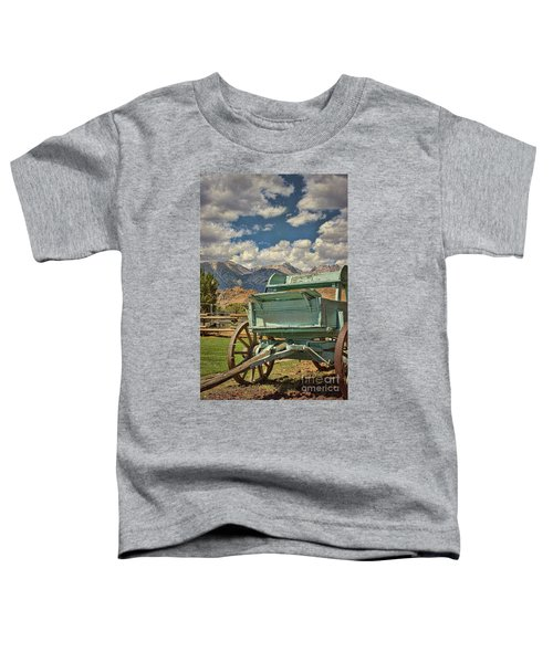 The Wagon Toddler T-Shirt by Peggy Hughes