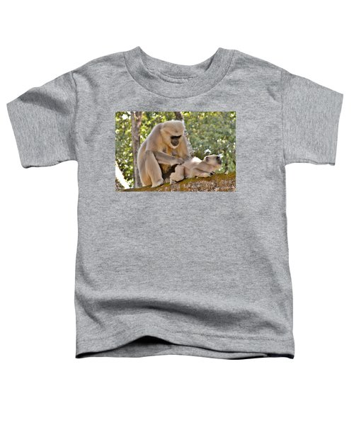 There Is Nothing Like A  Backscratch - Monkeys Rishikesh India Toddler T-Shirt