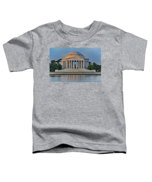 Toddler T-Shirt featuring the photograph Thomas Jefferson Memorial At Sunrise by Sebastian Musial