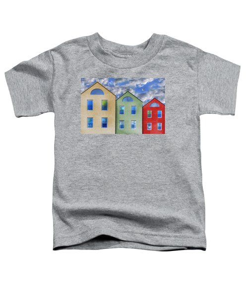 Three Buildings And A Bird Toddler T-Shirt