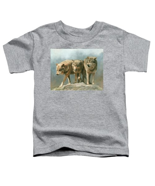Three Wolves Toddler T-Shirt