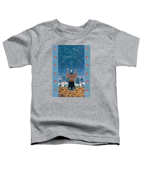 Toddler T-Shirt featuring the painting Thunder Girl II by Chholing Taha