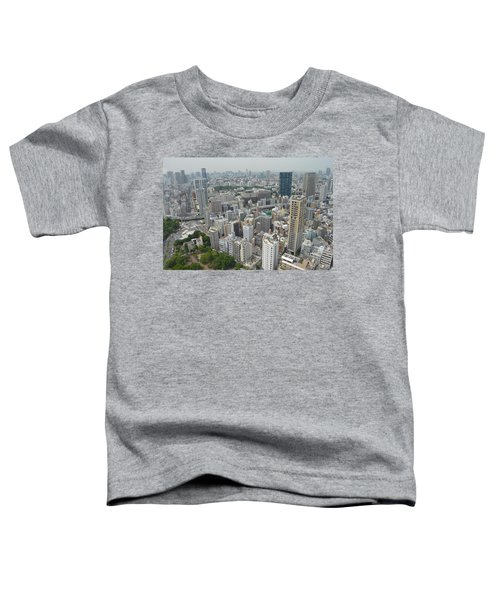 Tokyo Intersection Skyline View From Tokyo Tower Toddler T-Shirt by Jeff at JSJ Photography