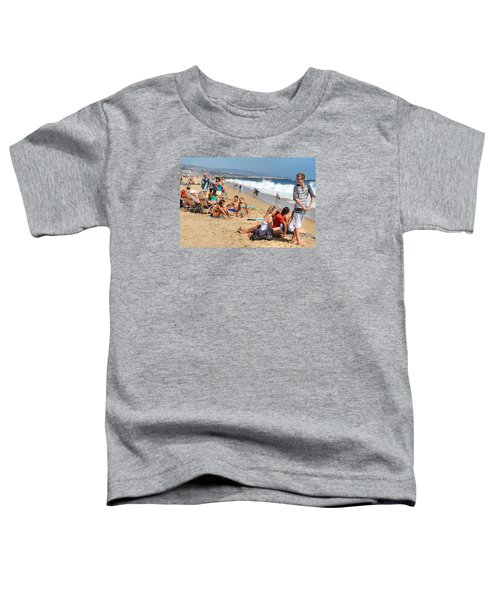 Tourist At Beach Toddler T-Shirt