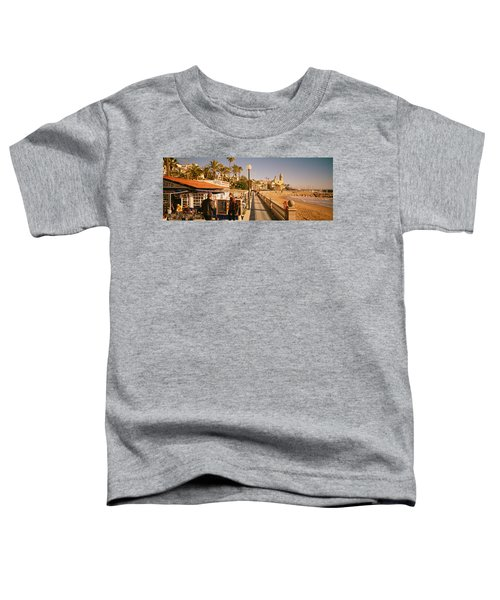 Tourists In A Cafe, Tapas Cafe, Sitges Toddler T-Shirt