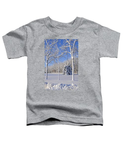 Trees In Snow  Wisconsin Toddler T-Shirt