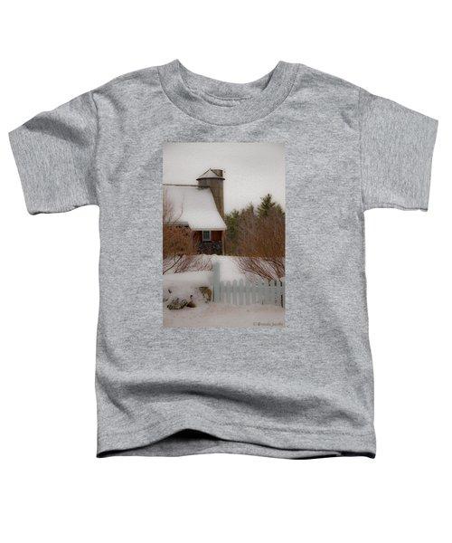 Tuftonboro Barn In Winter Toddler T-Shirt