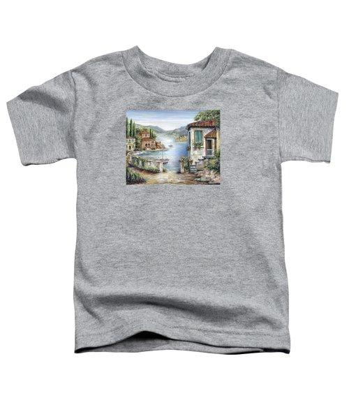 Tuscan Villas By The Lake Toddler T-Shirt